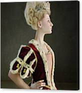 18th Century Queen Wearing Red Robe Canvas Print