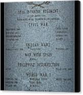 18th Infantry Regiment History Canvas Print