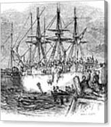 Boston Tea Party, 1773 Canvas Print