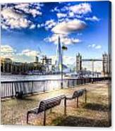 River Thames View Canvas Print