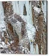 Ice Climb Canvas Print
