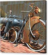 1900 Dual Rocket Steambike Canvas Print