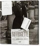 1900s British Suffragette Woman Canvas Print