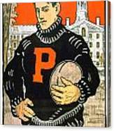 1901 - Princeton University Football Poster - Color Canvas Print