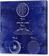 1902 Billiard Ball Patent Drawing Blue Canvas Print