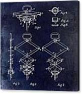 1902 Corkscrew Patent Blue  Canvas Print