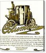 1903 - Columbia Motor Carriage Advertisement Canvas Print