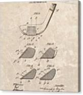 1903 Golf Club Patent Canvas Print