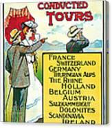 1904 Cooks Conduted Tours Vintage Travel Art Canvas Print