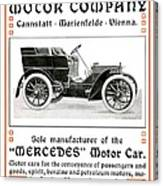 1904 - Daimler Motor Company Mercedes Advertisement - Color Canvas Print