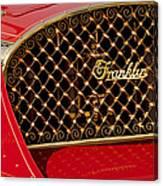 1904 Franklin Open Four Seater Grille Emblem Canvas Print