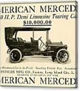 1907 - Daimler Manufacturing Company - American Mercedes Demi Limousine Automobile Advertisement Canvas Print