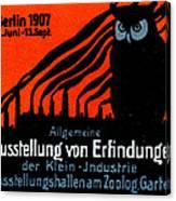 1907 Berlin Exposition Poster Canvas Print