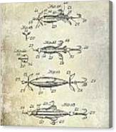 1907 Fishing Lure Patent Canvas Print