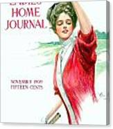 1909 - Ladies Home Journal Magazine Cover - November - Color Canvas Print