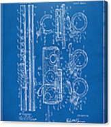 1909 Flute Patent - Blueprint Canvas Print