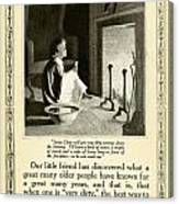 1910 - Ivory Soap Christmas Proctor And Gamble Advertisement  Canvas Print