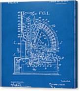 1910 Cash Register Patent Blueprint Canvas Print