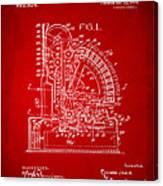 1910 Cash Register Patent Red Canvas Print