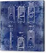 1910 Cigar Cutter Patent Drawing Blue Canvas Print