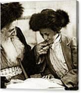 1910 Studying The Torah Canvas Print