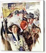 1910s 1912 Cover Sunday Magazine Canvas Print