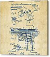 1911 Automatic Firearm Patent Artwork - Vintage Canvas Print