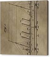 1911 Steamship Patent Canvas Print