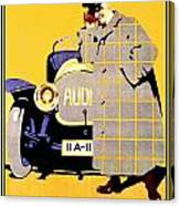 1912 - Audi Automobile Advertisement Poster - Ludwig Hohlwein - Color Canvas Print