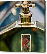 1912 Rolls-royce Silver Ghost Cann Roadster Skull Hood Ornament Canvas Print