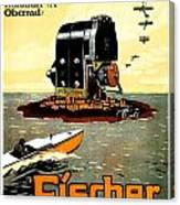 1913 - Fischer Magneto German Advertisement Poster - Color Canvas Print