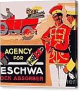 1913 - Geschwa Automobile Shock Absorber Adbertisement - Color Canvas Print