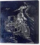 1913 Motorcycle Side Car Patent Blue Canvas Print