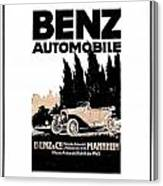 1914 - Benz Automobile Poster Advertisement - Color Canvas Print