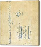 1914 Flute Patent - Vintage Canvas Print