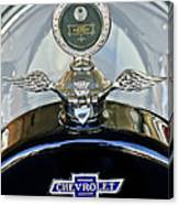 1915 Chevrolet Touring Hood Ornament Canvas Print