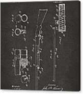 1915 Ithaca Shotgun Patent Gray Canvas Print