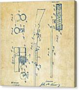 1915 Ithaca Shotgun Patent Vintage Canvas Print