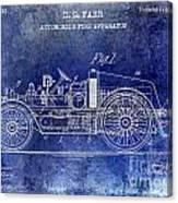 1916 Automobile Fire Apparatus Patent Drawing Lt Blue Canvas Print