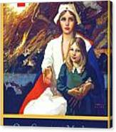 1917 - Red Cross Nursing Recruiting Poster - World War One - Color Canvas Print