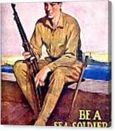 1917 - United States Marines Recruiting Poster - World War One - Color Canvas Print
