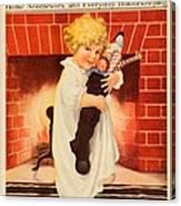 1917 - Modern Priscilla Magazine Cover - December Canvas Print