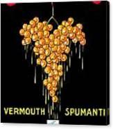 1919 - Conzano Vermouth Advertisement Poster - Color Canvas Print