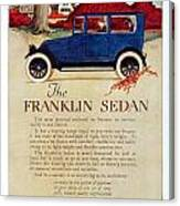 1919 - Franklin Sedan Advertisement - Color Canvas Print