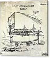1919 Airship Patent Drawing Canvas Print
