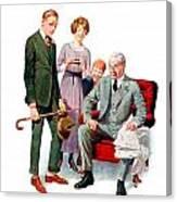 1920 - Life Magazine Cover - Engagement - J F Kernan - January 29 - Color Canvas Print