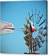 1920 Aermotor Windmill Canvas Print