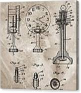 1920 Clock Patent Canvas Print