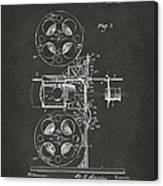 1920 Motion Picture Machine Patent Gray Canvas Print