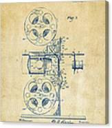 1920 Motion Picture Machine Patent Vintage Canvas Print